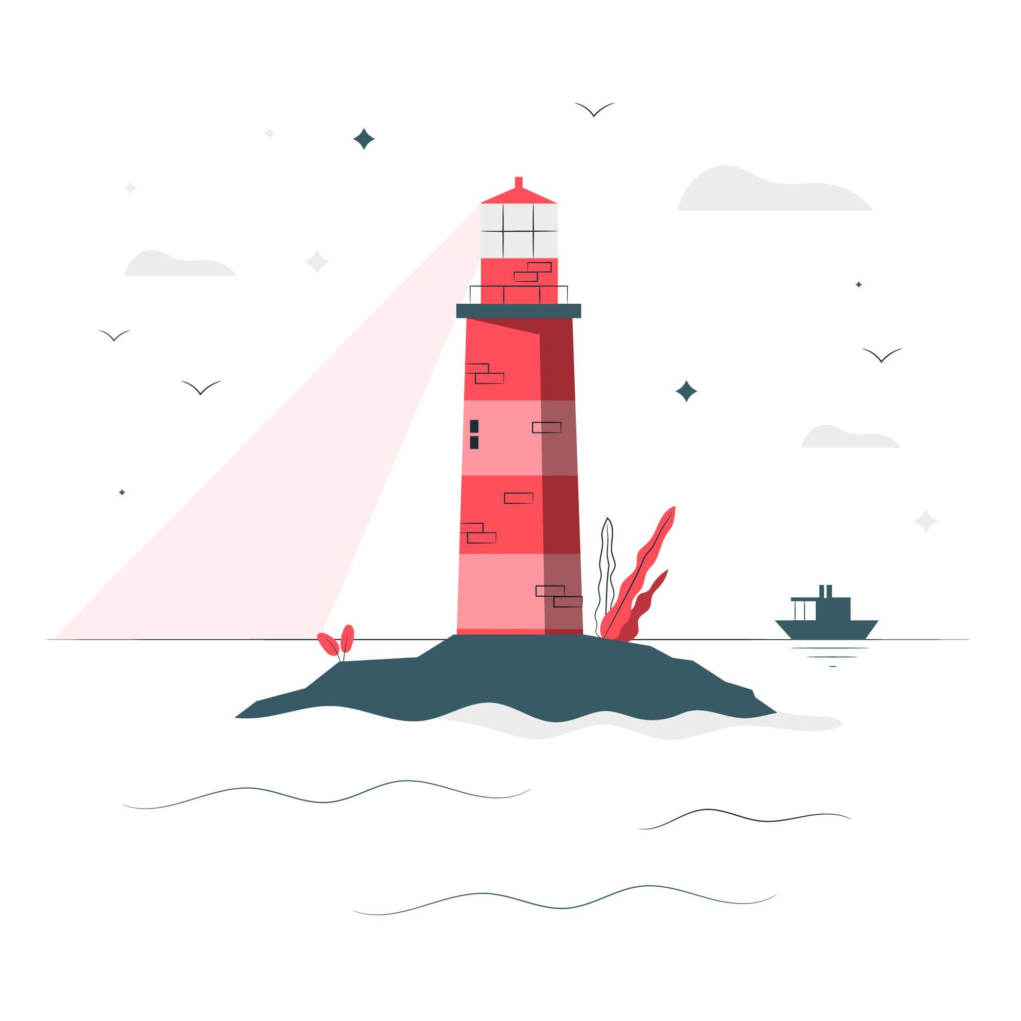 Les phares, les guides lumineux des marins qui partent au large